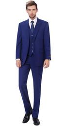 2020 Özel Et İki Düğmeler Kraliyet Mavi Damat smokin Tepe Yaka Groomsmen Sağdıç Suits Mens Düğün Suit (Ceket + Pantolon + Vest + Papyon) nereden