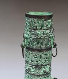 caneta de incenso Desconto Bronze Abertura Feng Shui Decoração antigos Três Beasts Bronze oco Pen incenso vara de incenso Pure Copper Decoração