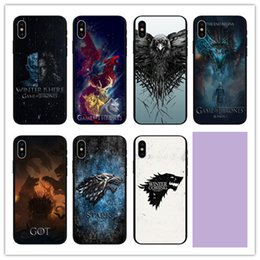 power cell case Coupons - Throne Of Power Game Cell Phone Case Painted Black For Iphone Xr 6 7 8 X Plus Xs Max TPU Soft Phone Cases
