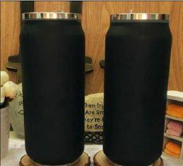 2019 copos de geladeira palitos 2019 Nova Marca C preto Vacuum Cup thermoses garrafa de carro garrafa Frasco Copos Garrafa de palha Termica Inox batom copo de Café de Viagem de Casamento presente copos de geladeira palitos barato