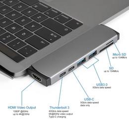 порты linux Скидка высокое качество двойной USB 3.0 концентратор 7-портовый USB-адаптер концентратор Thunderbolt 3 адаптер Тип C женский 7-портовый концентратор с типом c до UHD для MacBook Pro