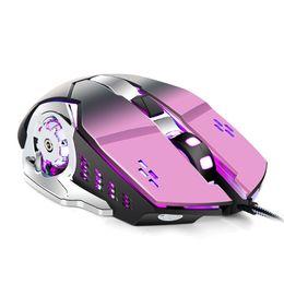 2019 ratón lindo para la computadora Ratón luminoso LED Luz de fondo Ratón con cable USB 4 Botones Mouses de juegos ópticos para PC Ordenador portátil Nueva llegada