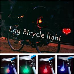 Personalidade LED Multicolor Luz de advertência Luz da bicicleta Impermeável Night Egg Lamp de