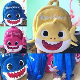 Bonitos mochilas anime on-line-Bebê Tubarão Designer de Mochila de Pelúcia Saco Bonito Dos Desenhos Animados Animal Saco Da Menina Para Crianças Querida Mini Saco De Escola Para Crianças Kinderegarten MMA1467