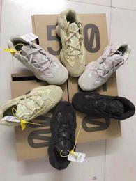 Zapatillas de correr New Salt 500 Kanye West con estuche original 2019 Zapatillas de deporte para hombre Super Moon Blush de Desert Rat 500 Sport amarillo desde fabricantes