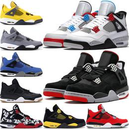 Zapatos para hombre alas online-2020 Nueva Bred 4 4s IV Lo Las zapatillas Cactus Jack láser Alas de baloncesto del Mens Denim Blue Hombres Deportes diseñador zapatillas de deporte de Estados Unidos 7-13