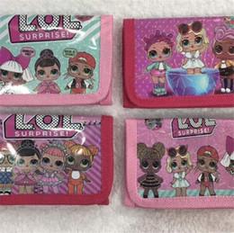 I migliori regali per i bambini online-LOL Girls Portafoglio Trifold Zip Bambini Cartoon portamonete carino bambole lol Borsa migliore regalo per la ragazza