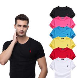 дизайнерские рубашки для труб Скидка Роскошный бренд дизайнер лето Ральф топы Вышитые мужские футболки мода рубашки мужская повседневная high street повседневная рубашка футболка