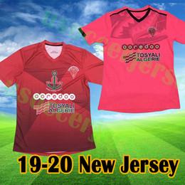 camicie da calcio a squadre Sconti 2019 Uniformi 2020 MC Oran maglie di calcio algerino Club Men 19 maillots 20 squadra Algeria camicia de foot mc Oran rouge Algerie calcio