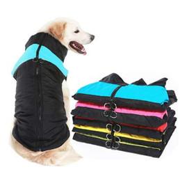 Grandi giacche per cani invernali online-Inverno Pet Dog Clothes Warm Big Dog Coat Puppy Abbigliamento Impermeabile Pet Vest Jacket per cani di taglia piccola Medium Golden Retriever