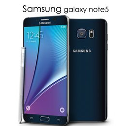 """Double carte sim 5,7 pouces en Ligne-Version européenne Samsung galaxy Note 5 Note5 4 Go de RAM 32 Go de ROM Android Smart Phone 5.7 """"pouces Octa Core 16MP Double carte SIM Rénové téléphone"""