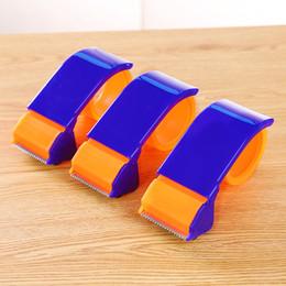 2019 soporte de cinta adhesiva MIRUI Dispensador de Cinta Adhesiva Transparente School Desktop Washi Tape Holder Cortador Azul Dispensador de Embalaje Suministros de Oficina soporte de cinta adhesiva baratos