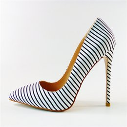 Vestidos de cebra de mujeres sexy online-Spring Ladies Sexy Zebra Stripe Pumps Ladies punta estrecha Slip on Stilettos tacones altos zapatos de vestido de fiesta para mujeres