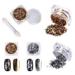Marchiati manicure tools online-Brand New Mirror Colorful Nail Glitters Powder Manicure Nail Art Glitter Decorazioni Manicure Tools