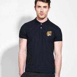 2019 camisa causal da forma do homem Excelente designer de moda masculina marca T-shirt verão causal camisa de manga curta de luxo dos homens designer de traje S-3XL lazer T-shirt camisa causal da forma do homem barato