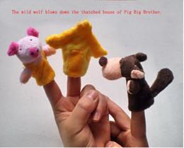 Wholesale16pcs = 2lot Trois Petits Cochons Conte de Fée Fingers Histoire racontant Poupée Enfants Enfants Bébé Jouets Éducatifs Jeu de Rôle Jouet Groupe # 589 ? partir de fabricateur
