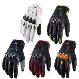 Motos de bombardero online-Guantes de deportes al aire libre para bicicleta de carreras etbike BOMBARDERO guantes impermeables de la motocicleta de descenso ciclismo equitación guantes de cuero genuino