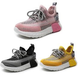 2019 menino menina net Crianças Casual Esportes Sapatos Outono Primavera Weaving ao ar livre sapatos respirável Rapazes Meninas Athletic Shoe pano Net Shoes Casual 04 desconto menino menina net
