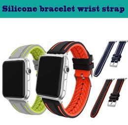 2019 резиновые браслеты 42 мм 38 мм резиновый силиконовый браслет для Apple Watch ремешок полосы спортивный браслет для Apple iwatch серии 1 2 3 4 скидка резиновые браслеты