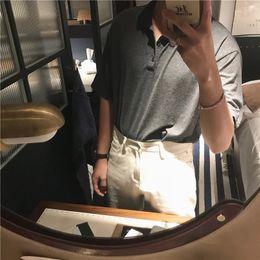 Deutschland Neues Kurzarm-T-Shirt für Herren im Sommer 2019, koreanische Ausgabe, Polohemd mit Stehkragen für Herren mit halber Mode-Ärmel supplier korean half slip Versorgung