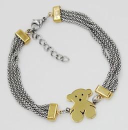 collana di ambra nera Sconti Braccialetto dell'acciaio inossidabile di nuovo modo migliore braccialetti di marca del braccialetto del progettista Regalo per gli uomini e le donne braccialetti B6-1