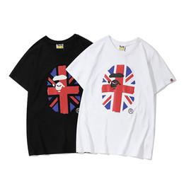 T-shirt manica corta in cotone puro con stampa a bandiera, uomini e donne della moda del riso della APE cheap pure flag da bandiera pura fornitori