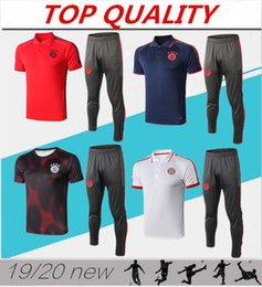 polo sports Coupons - 2019 Bayern Munich Polo shirts Soccer Jersey 19 20 Bayern Blue Soccer Short sleeve training Football Uniforms Sport Shirt Sales