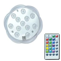 Led Control remoto RGB Luz sumergible Funciona con pilas Lámpara subacuática de noche Florero al aire libre Tazón Decoración de fiesta de jardín desde fabricantes