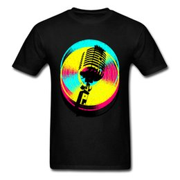 Ropa de estilo antiguo online-Steampunk Colors Records camiseta 2018 hombres camiseta negra Old Mike Karaoke Band Tops Tees ropa estilo Hip Hop