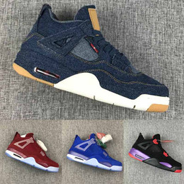 Deutschland Nike air jordan retro 2020 Cement 4 Basketball Shoes Was The Cactus Jack Cool Grau Herren Basketballschuhe FIBA ​​UNC Mushroom Denim Blau Herren Sport Designer Sneakers Versorgung