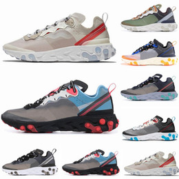 2019 luces de hueso React Element 87 Undercover Men Running Shoes For Women Designer Sneakers Sports Mens Trainer Shoes Sail Light Bone Royal Tint 5 rebajas luces de hueso