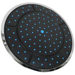 Acessórios de chuveiro de plástico on-line-CNIM Hot 1 Pcs 25 Cm De Plástico Forma Redonda Chuvas Powered Shower Shower Top Cabeça Do Telhado Do Chuveiro Acessórios Da Cabine Único Cabeça