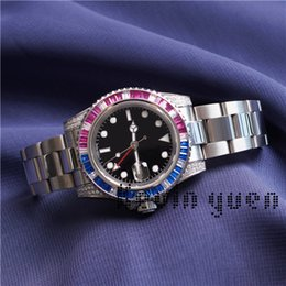 Date de la montre de strass en Ligne-Femmes Montre De Diamants Dress New Master Automatique De Mode Strass Montre pour Les Femmes Parti Coloré Lady Montre-Bracelet Belle Orologio Reloj