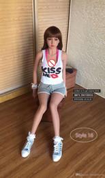 hermoso juguete sexual japonés Rebajas WMDOLL 148cm juguetes atractivos realista pecho grande japonesa de silicona verdadera muñeca del sexo para los hombres adultos 3d hermosa cabeza Japón orales asiática TPE