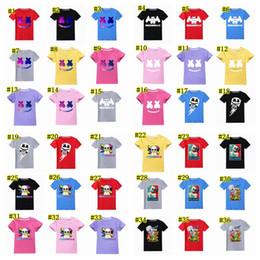Музыка t рубашка dj онлайн-Футболка Marshmello Big Kids Дизайнерская одежда Топы для мальчиков Футболка Marshmello Dj Music Детские футболки Летние топы Тис MMA1547