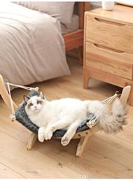 Cages à rats en Ligne-chat hamac lavable couverture Pet Bed rat lapin tortue chat cage hamac petit chien chien chiot draps couverture A02