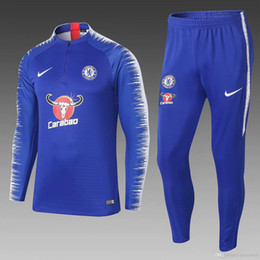 40f2837a7ab best-selling new 18 19 season Chelsea jacket Morata Fabregas 2018 2019 home  away tracksuits soccer jersey Giroud Hazard training suit