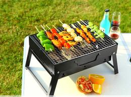 Pieghevole per barbecue Grill Forno portatile per esterni Padella per barbecue Piastra per barbecue Durevole antiaderente per barbecue all'aperto Strumento di cottura per barbecue da doghe di bambù fornitori