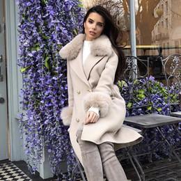 donne doppie con cappuccio ricamato Sconti 2019 Nuove donne moda cappotto nudo albicocca manica lunga Button Sash cappotto lungo stile donne lungo cappotto doppio petto trenches