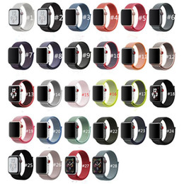 Argentina Correa de nylon deportiva para la banda de reloj de Apple Serie iWatch 1 2 3 4 Colorido 40 mm 44 mm Correas de repuesto de nylon tejidas Correas de reloj 38 mm Suministro