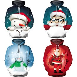 UGLY XMAS 3D Print Weihnachten Schneemann Weihnachtsmann Thema Pullover Hoodies Für Frauen Männer Kausal Lose Plus Size Sweatshirts Femme
