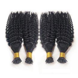 Ön-gümrüklü Sopa Ben Ucu İnsan Saç Uzantıları Kinky Kıvırcık Brezilyalı Bakire Saç 1 g / s 100g Balck Kahverengi Sarışın Keratin Saç Uzantıları nereden