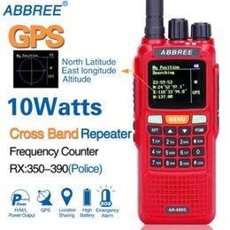 Argentina 2 PCS ABBREE AR-889G Ubicación de GPS 10W Banda cruzada Repetir Dúplex Trabajando Escaneo SOS Radio de jamón multibanda Walkie Talkie Suministro