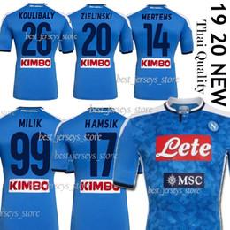 Camiseta de fútbol de nápoles online-19 20 Camiseta de fútbol Napoli Maglietta da calciatore HAMSIK INSIGNE 2019 2020 Nápoles MAGLIA MERTENS CALLEJON ALLAN VERDI MILIK Camisetas de fútbol