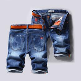 Calça jeans masculina on-line-Grande porte Homens Buraco shorts jeans masculinos short jeans 2019 New verão da luz casual calças de ganga calças curtas tamanho 40 sem cinto