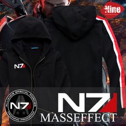Масса эффект куртка n7 онлайн-Классная Игра Mass Effect 3 N7 Хлопок Blende Косплей Костюм Толстовка Пальто Куртка Новая Бесплатная Доставка J190523