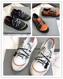 Hot Luxury suela espinosa zapatos casuales hombres diseñador Urchin Sneakers doble cremallera con cordones tejidas zapatillas de deporte de moda color mezclado con caja desde fabricantes