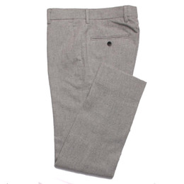серый фланелевой костюм Скидка 2019 Fashion Grey Flannel Pants Men Slim Fit Business Pants Custom Made Gray Flannel Trousers,Tailored Warm Wool Suit