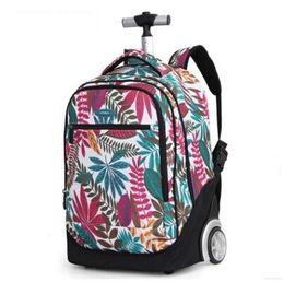 18 inç Tekerlekli sırt çantası çocuklar Gençler için okul çantaları tekerlekler Arabası sırt çantası Çocuk Okul kızı için Rolling supplier 18 school girl nereden 18 okul kız tedarikçiler