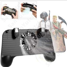 Almohadilla de juegos para móviles online-Teléfono móvil Gamepad Almohadilla de enfriamiento Juego Joystick Controlador Ventilador del radiador 2000mAh PUBG Mango ultra portátil Soporte de empuñadura Disparar Apuntar Objetivo